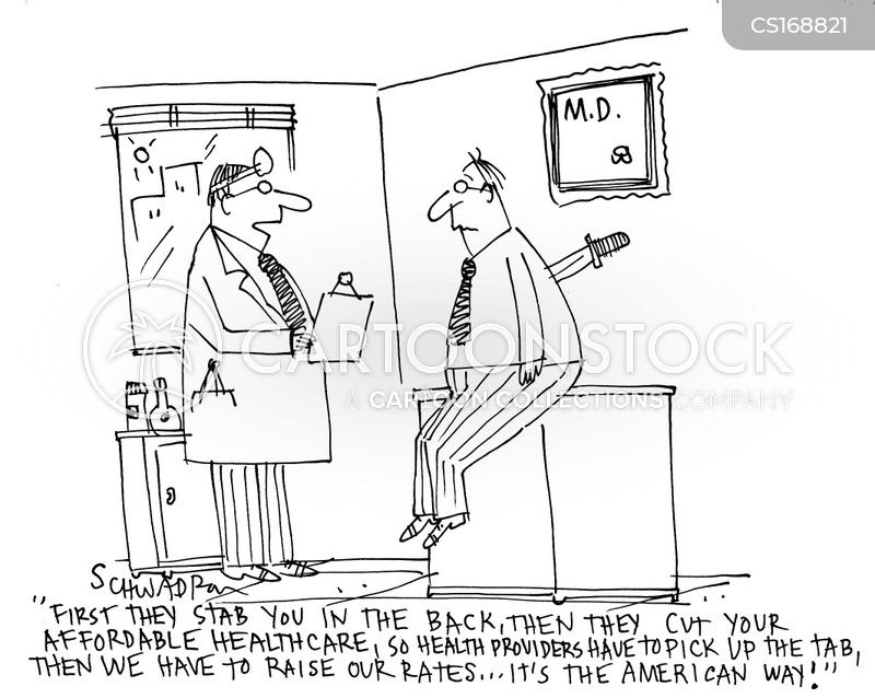 health cost news and political cartoons