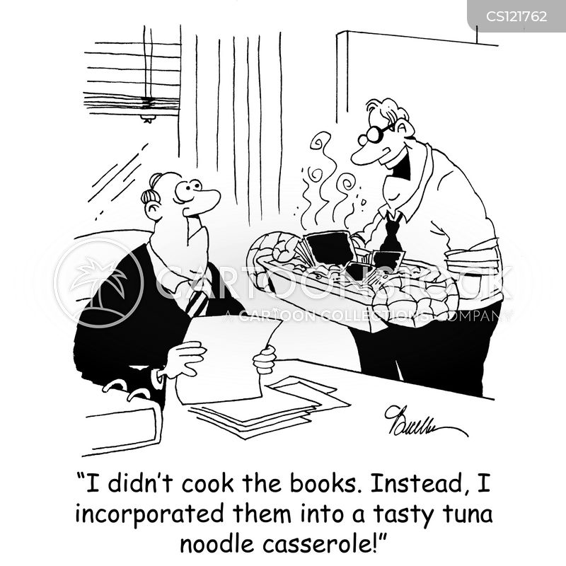 Cooking The Books Cartoons and Comics - funny pictures ...