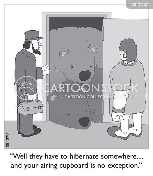 Empty Cupboard Cartoon: Airing Cupboard Cartoons And Comics