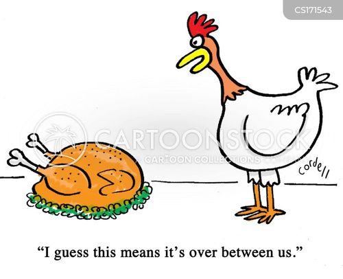 Funny Chicken Cartoons: Roast Chicken Cartoons And Comics