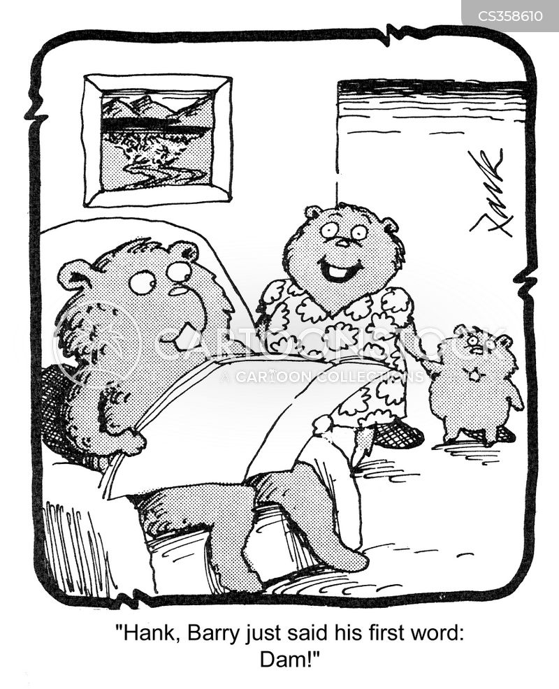 beavers dam cartoons and comics   funny pictures from cartoonstock