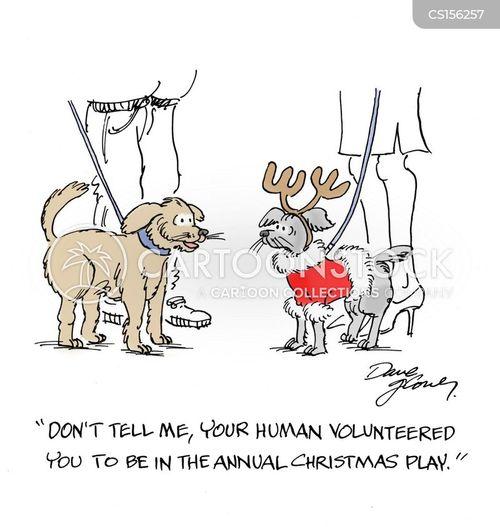 funny dog cartoons christmas