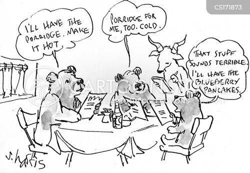 Three Bears Kitchen Menu