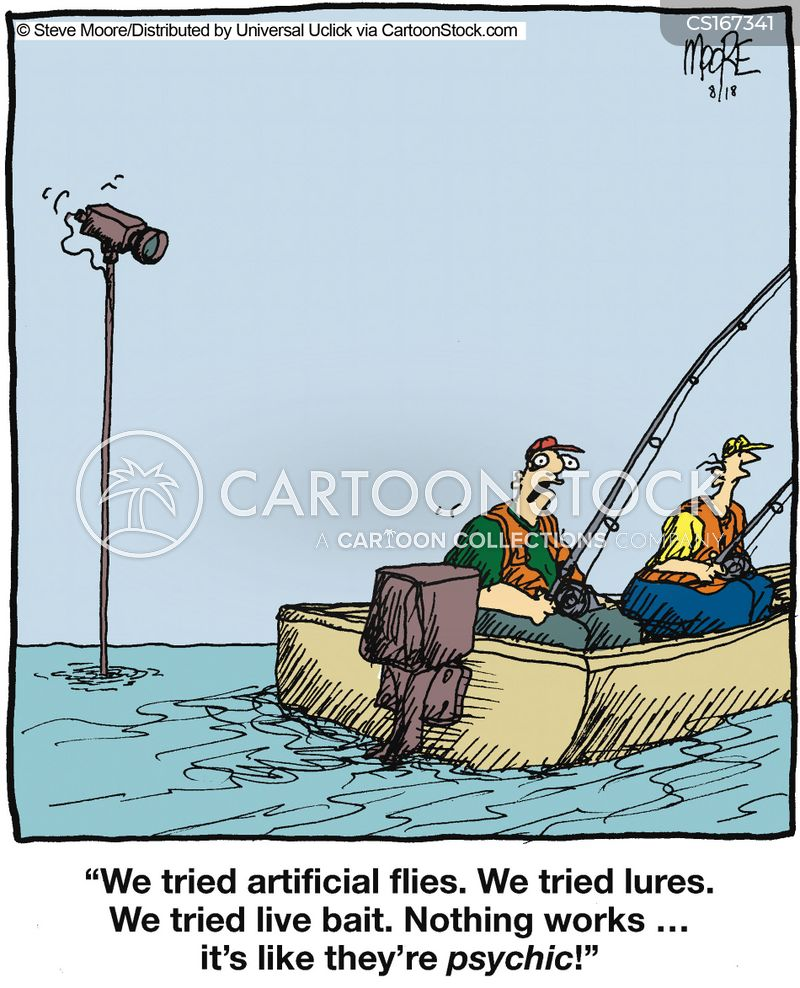 Lure cartoons and comics funny pictures from cartoonstock for Funny fishing lures