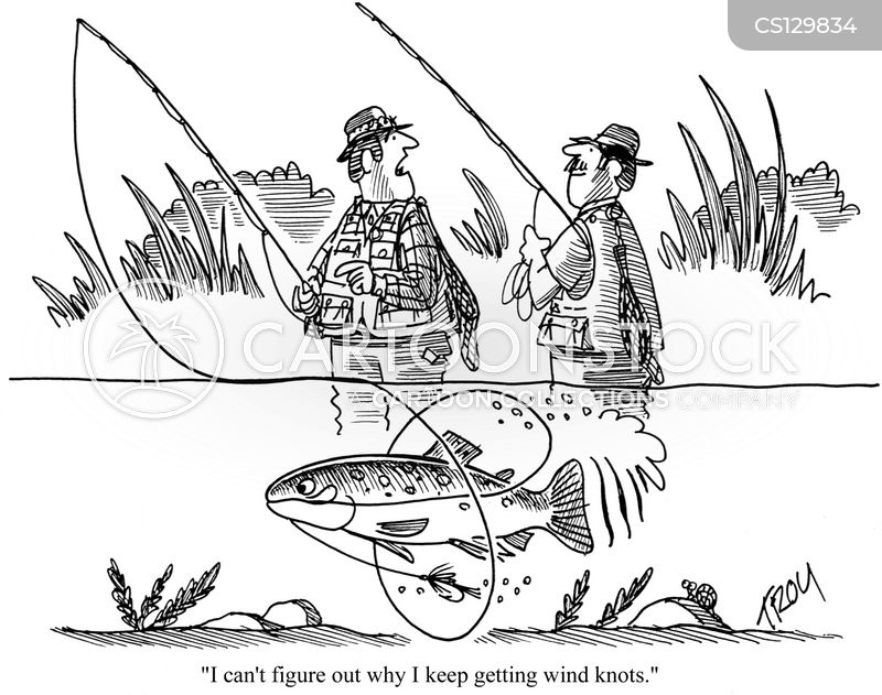 Wind knot cartoons and comics funny pictures from for Fishing in the wind