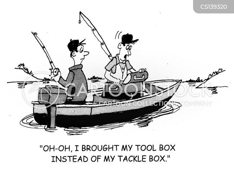 Toolbox cartoons and comics funny pictures from cartoonstock for Funny fishing lures