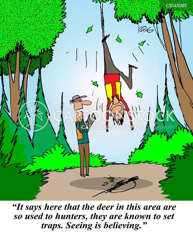 Deer trap cartoons and comics funny pictures from cartoonstock