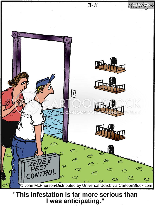 Pest control cartoons pictures