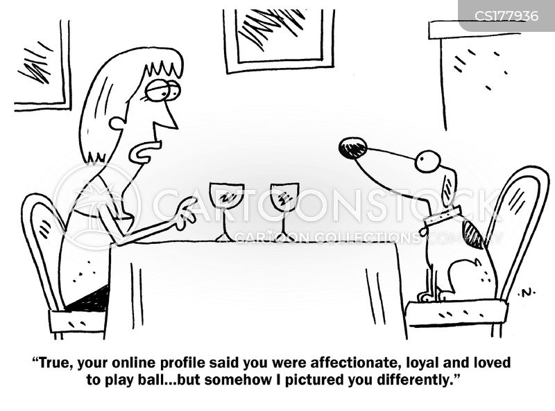 Dating site caricatures