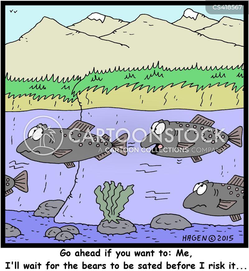 Funny salmon cartoon - photo#17