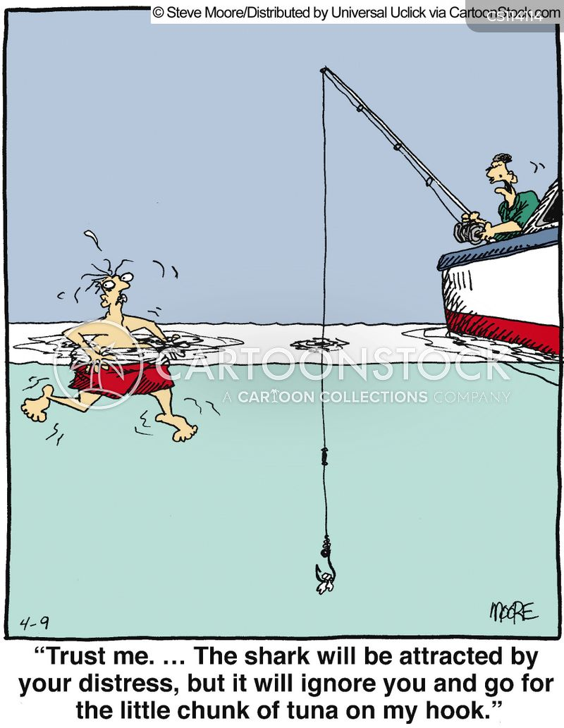 Sharks cartoons and comics funny pictures from cartoonstock for Dirty fishing jokes
