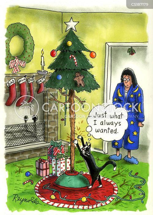 christmas tree decoration cartoon - photo #26