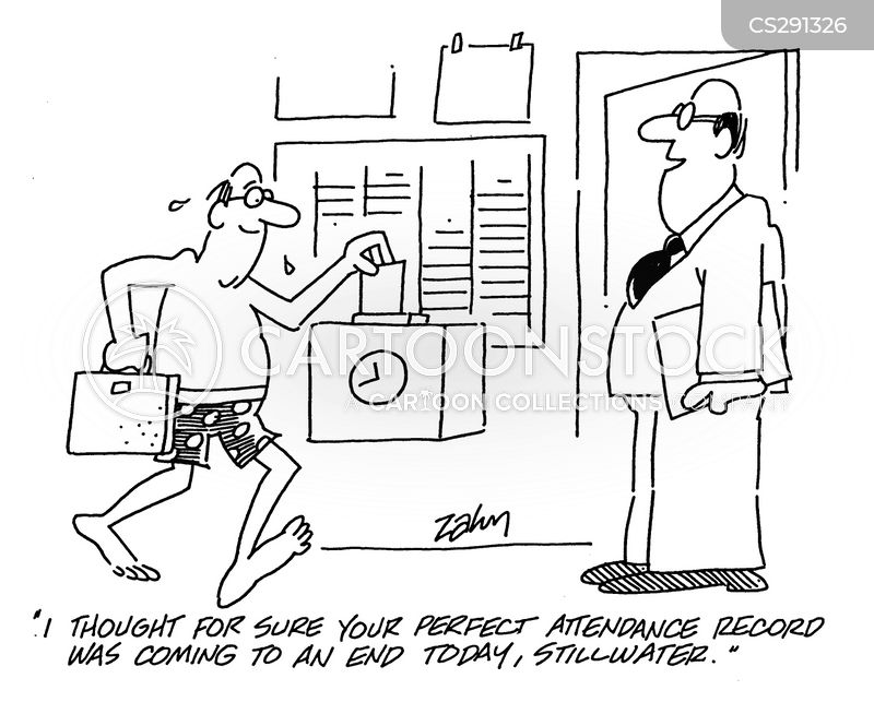 Perfect Attendance Record Cartoons and Comics - funny ...