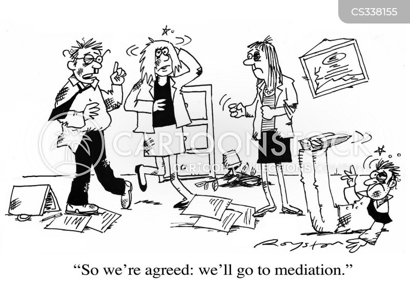 Mediation Cartoon, Mediation Cartoons, Mediation Bild, Mediation Bilder, Mediation Karikatur, Mediation Karikaturen, Mediation Illustration, Mediation Illustrationen, Mediation Witzzeichnung, Mediation Witzzeichnungen