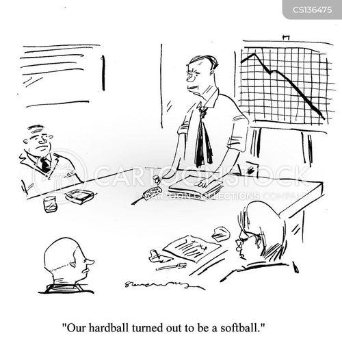 Business reports cartoons