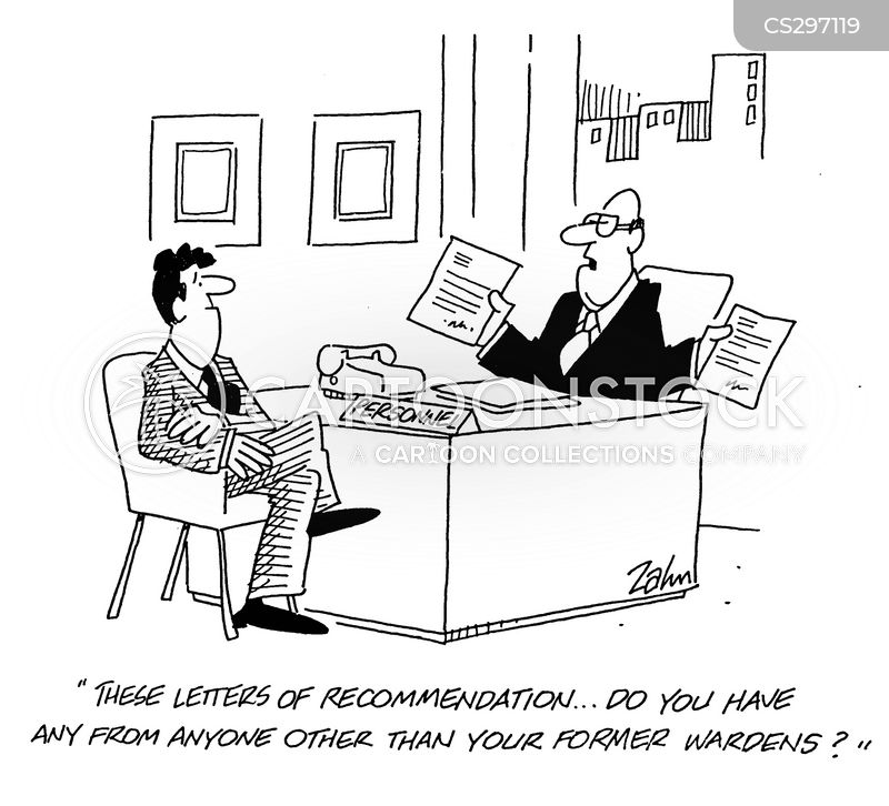 Letter of recommendation cartoon