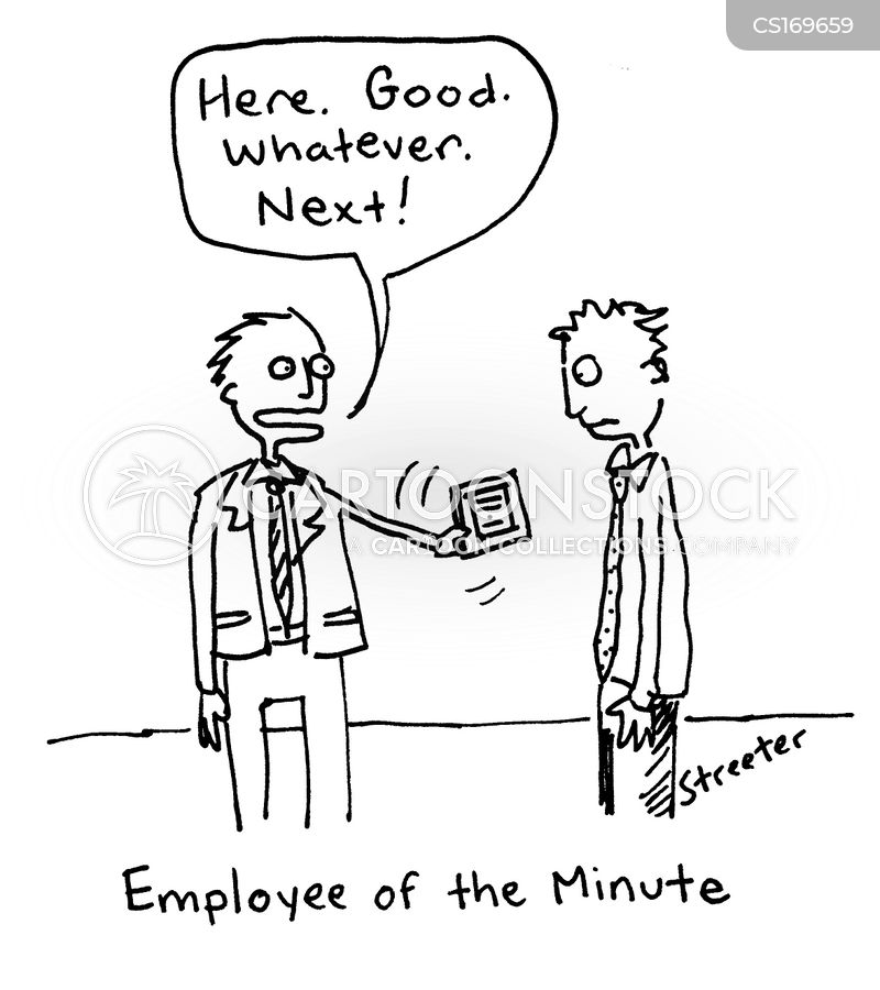 [cartoon: employee of the minute]