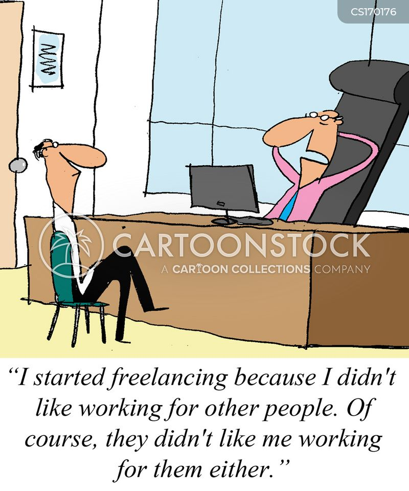 Freelancer Cartoon, Freelancer Cartoons, Freelancer Bild, Freelancer Bilder, Freelancer Karikatur, Freelancer Karikaturen, Freelancer Illustration, Freelancer Illustrationen, Freelancer Witzzeichnung, Freelancer Witzzeichnungen