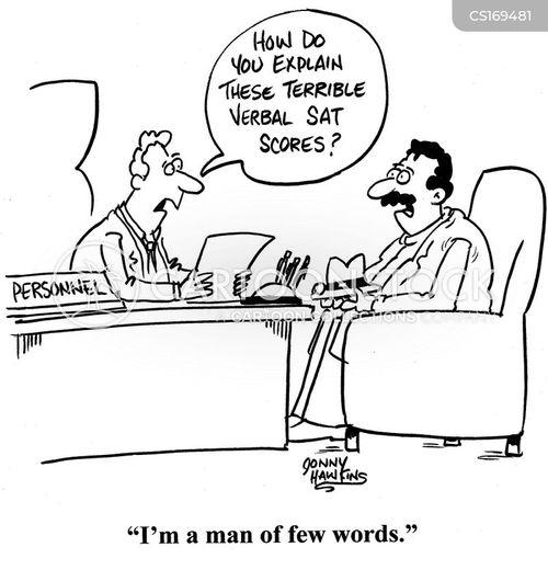 man of few words cartoons and comics