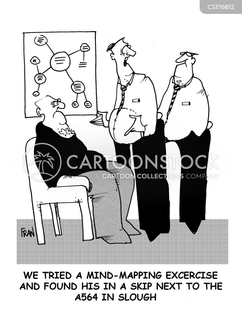 Mind mapping exercises cartoons