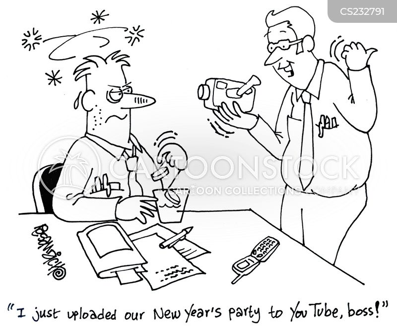 New Years Parties Cartoons And Comics Funny Pictures