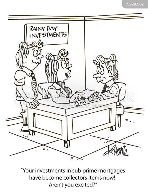 Mortgage Loan Cartoon Bad Loans Cartoon 1 of 2