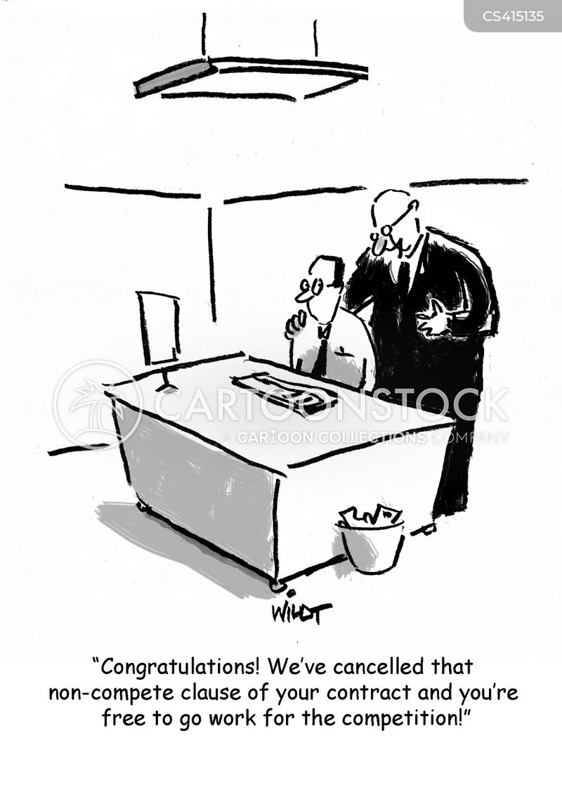 Non Compete Clause Cartoons And Comics Funny Pictures