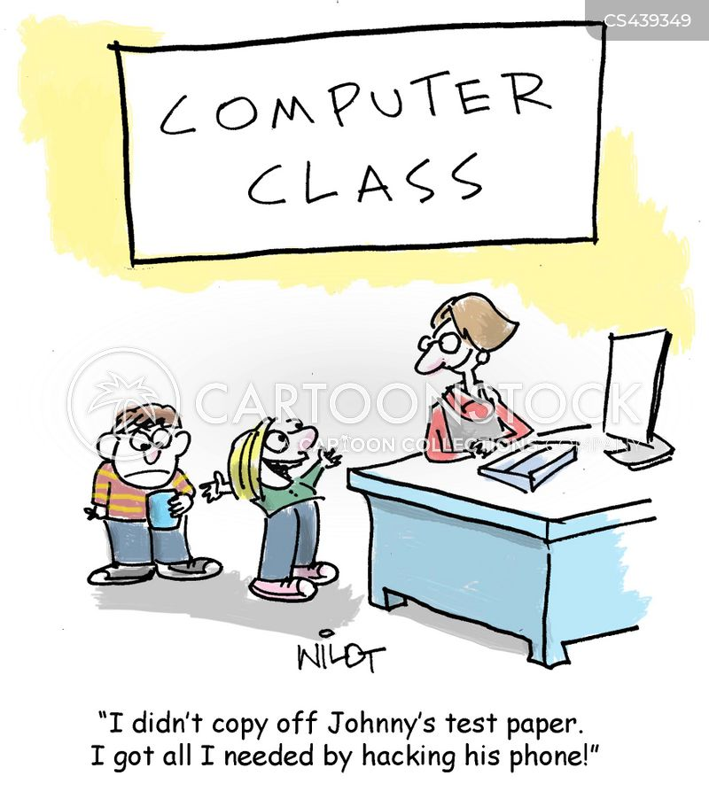 computer test cartoons and comics funny pictures from
