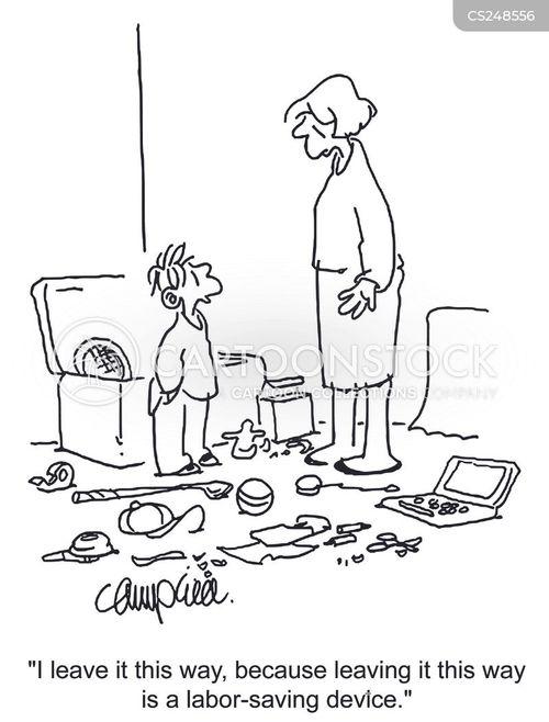 Cartoons und karikaturen mit kinderzimmer for Kinderzimmer unordnung