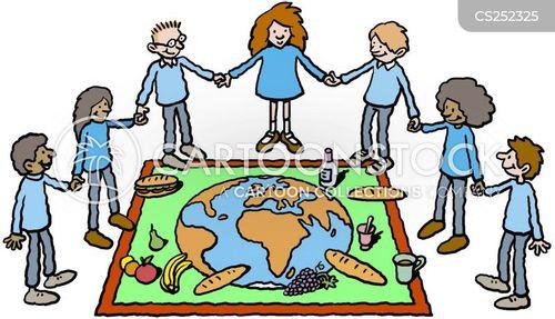 World Map Cartoon Globe World Globe Cartoon
