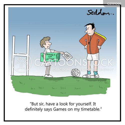 Physical education cartoon