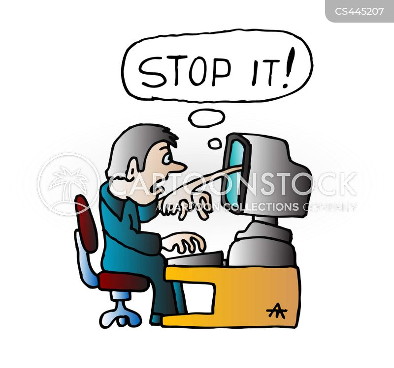 computer frustration cartoons and comics funny pictures