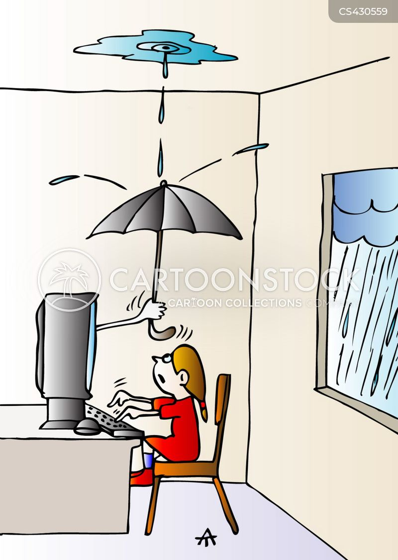 Leaking roofs cartoons and comics funny pictures from Roof leaks when it rains hard
