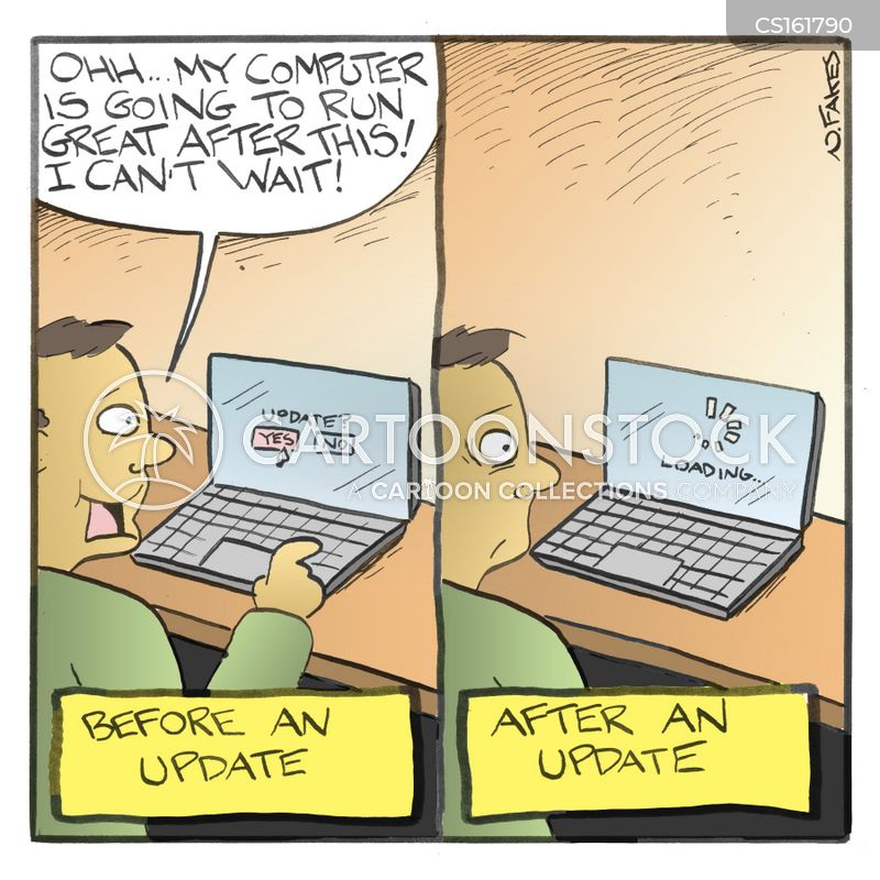 computer updates cartoons and comics funny pictures from