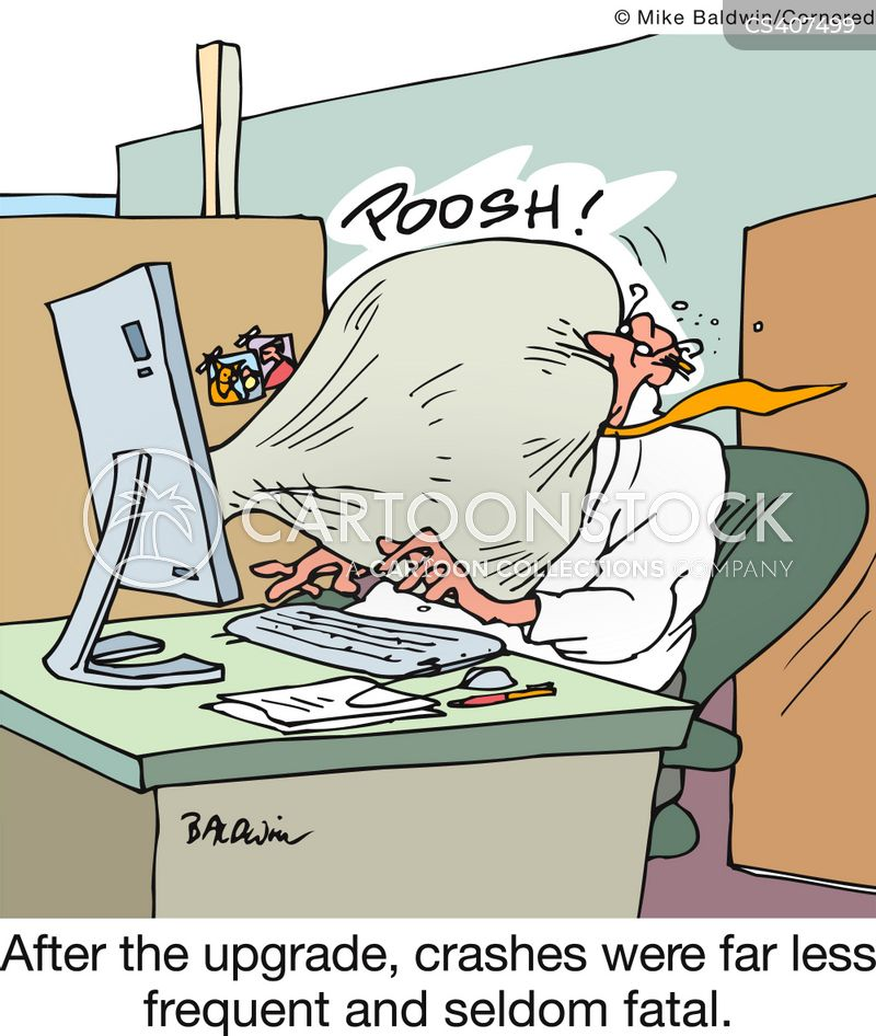 computer upgrade cartoons and comics funny pictures from