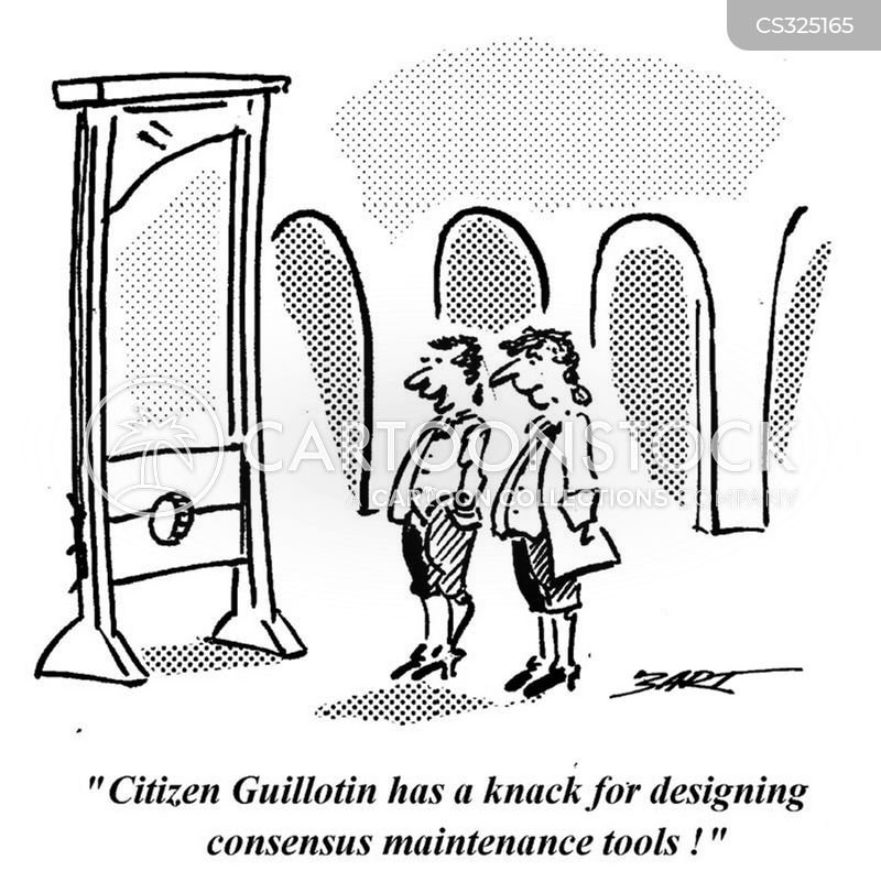 Guillotine French Revolution Cartoon