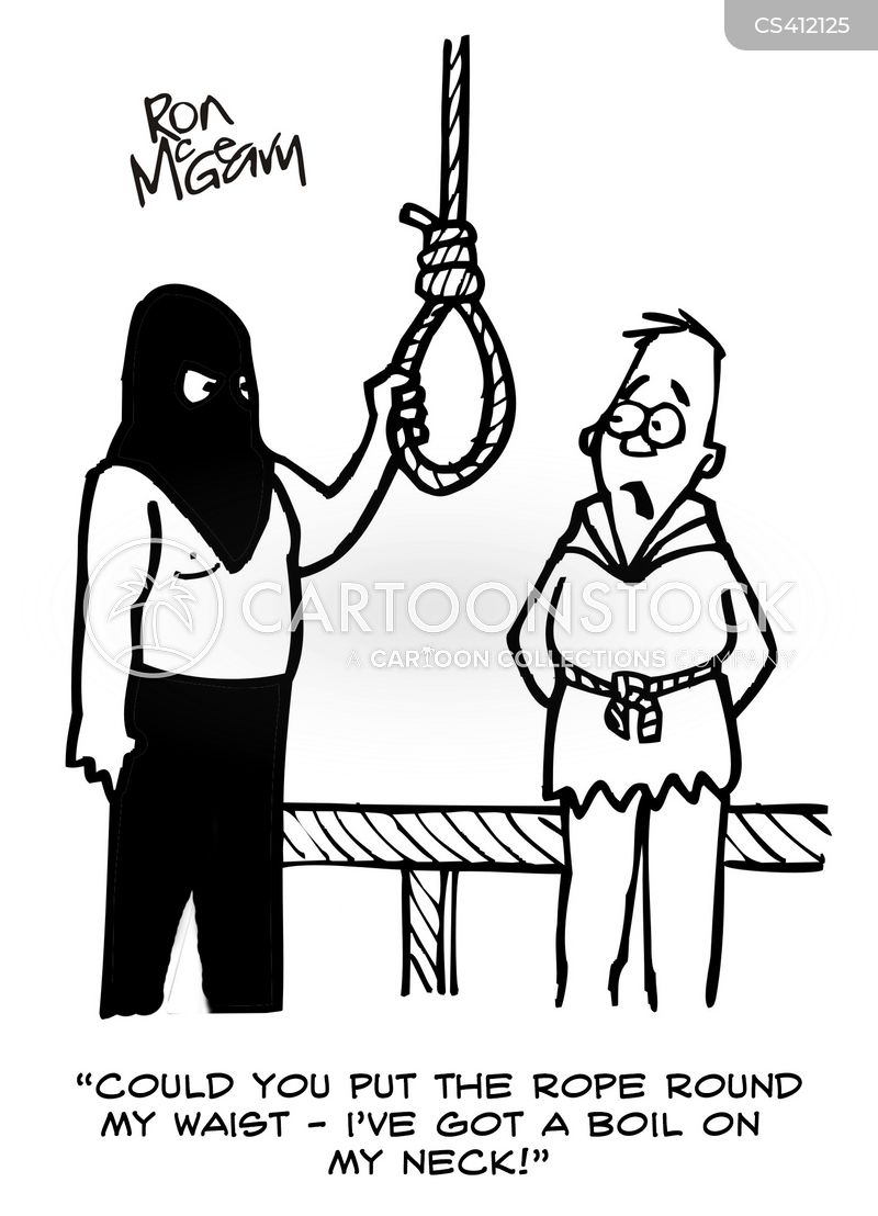 Hanging Ropes Cartoons and Comics - funny pictures from ... Suicide Hanging Cartoon