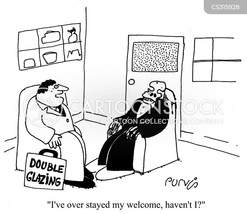 Thick skinned cartoons and comics funny pictures from for Double glazing salesman