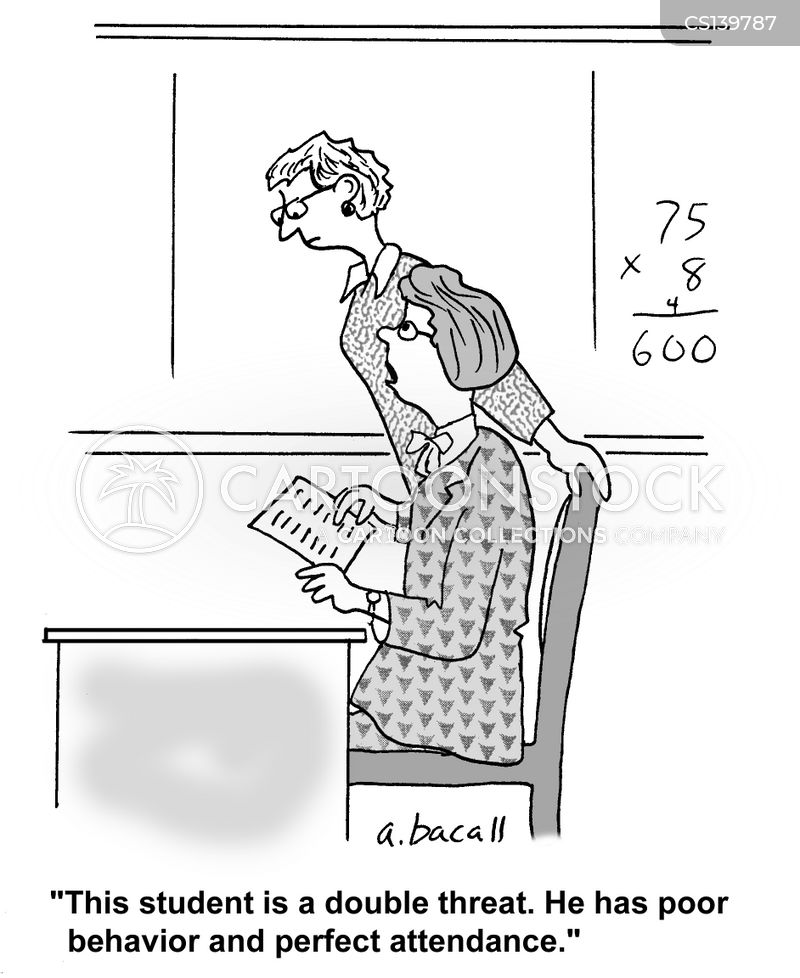 Attendance Record Cartoons and Comics  funny pictures from CartoonStock