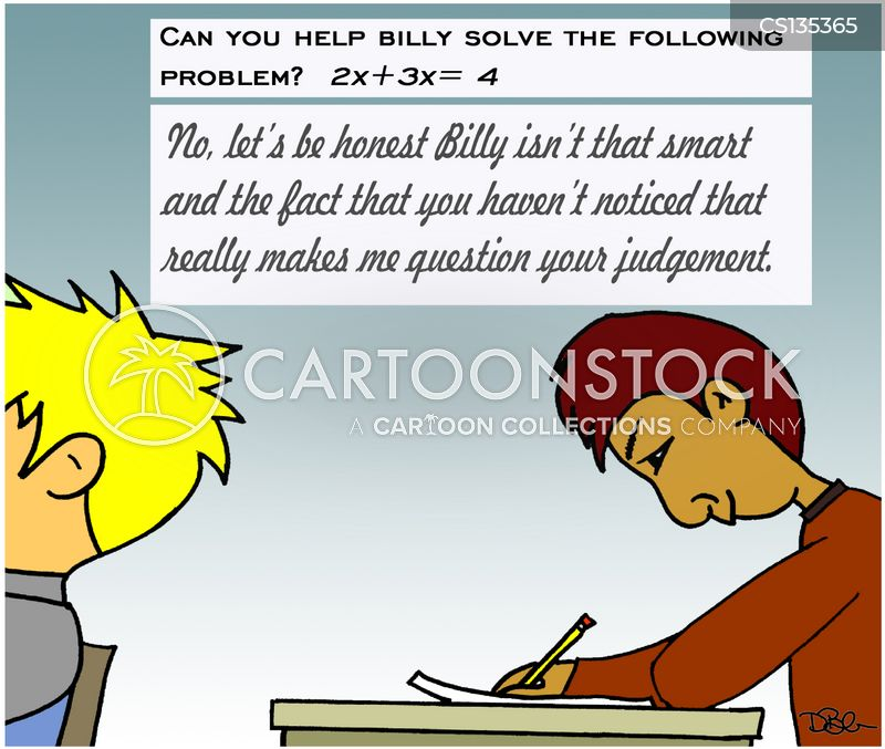 Cartoon Picture of a Math Problem As