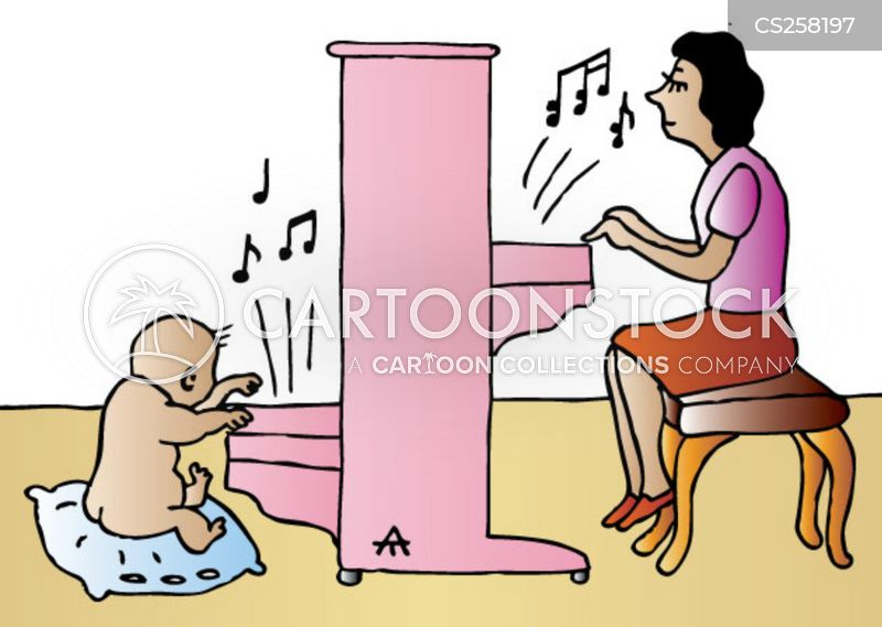Pianistin Cartoon, Pianistin Cartoons, Pianistin Bild, Pianistin Bilder, Pianistin Karikatur, Pianistin Karikaturen, Pianistin Illustration, Pianistin Illustrationen, Pianistin Witzzeichnung, Pianistin Witzzeichnungen