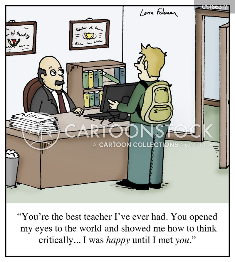 critical thinking cartoon images