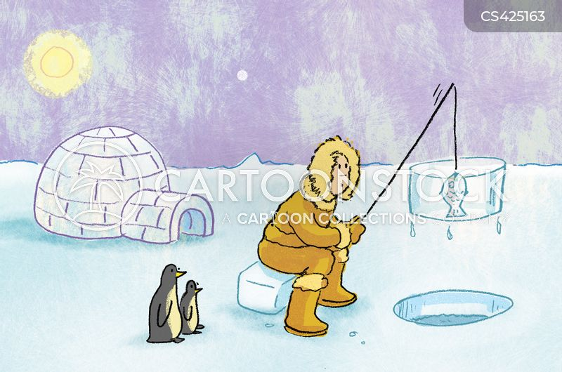 Ice fisherman cartoons and comics funny pictures from for Frozen fishing pole