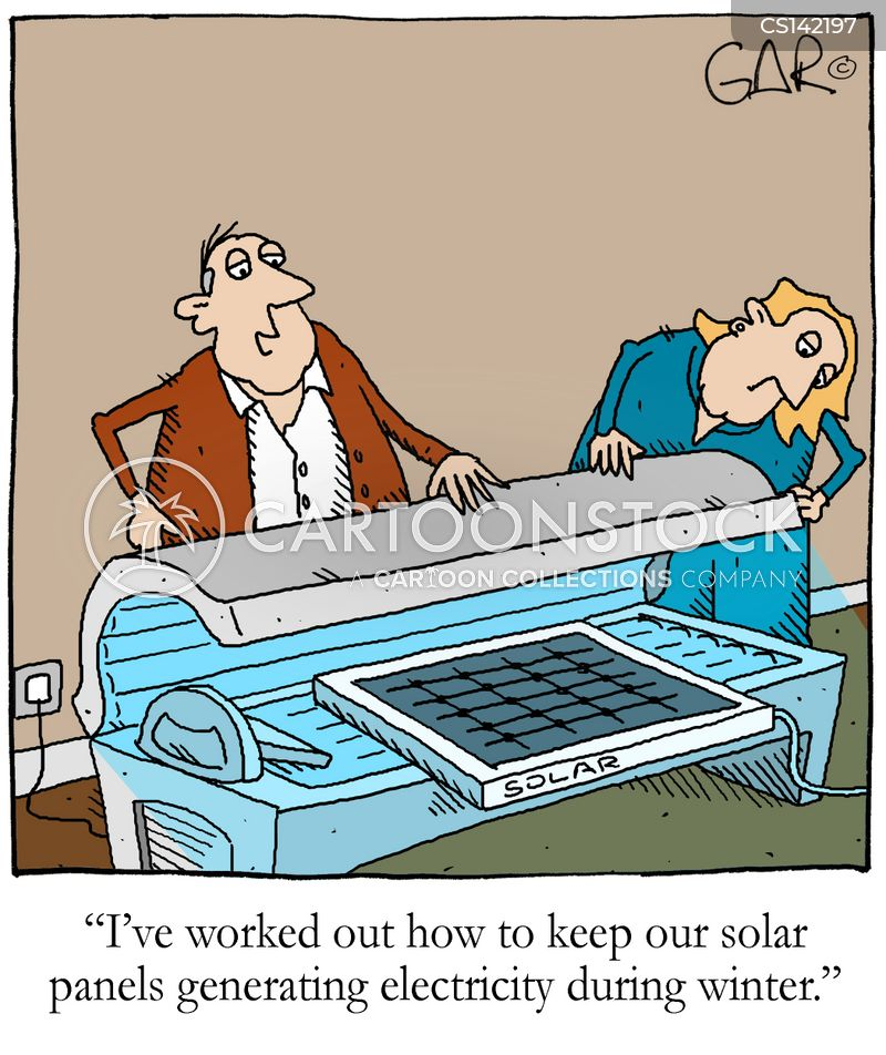 Solar Panels Generating Electricity In Winter