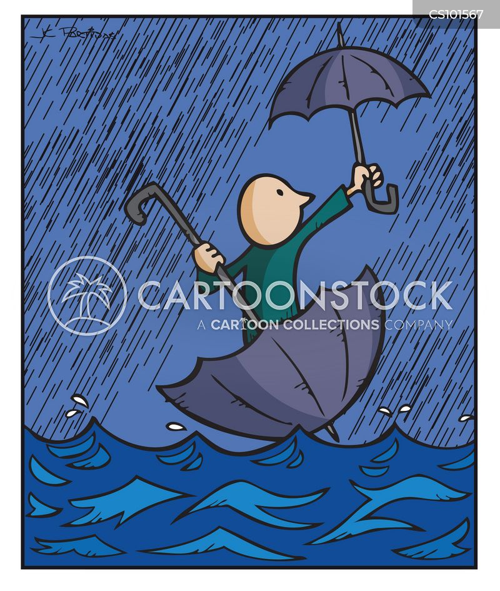 Cartoon kid running stock vector. Illustration of rain ...   Cartoon Storm