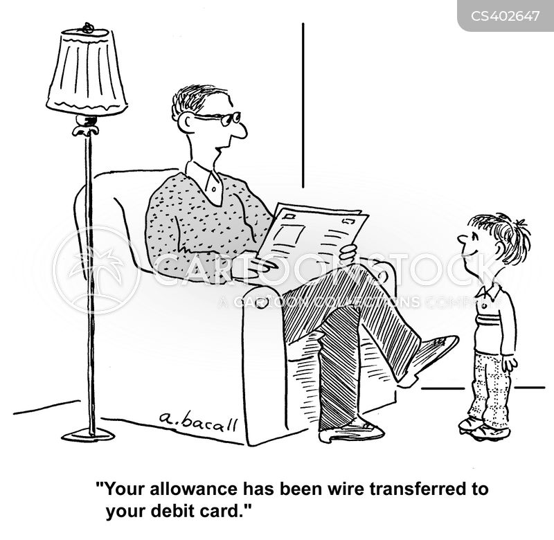 bank transfers cartoons and comics