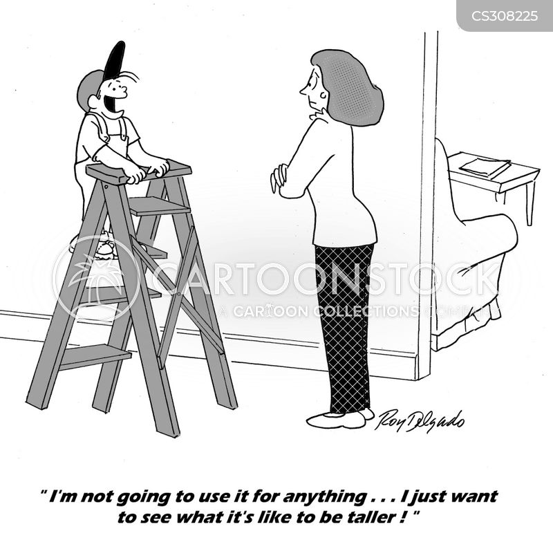Stepladder Cartoons And Comics Funny Pictures From