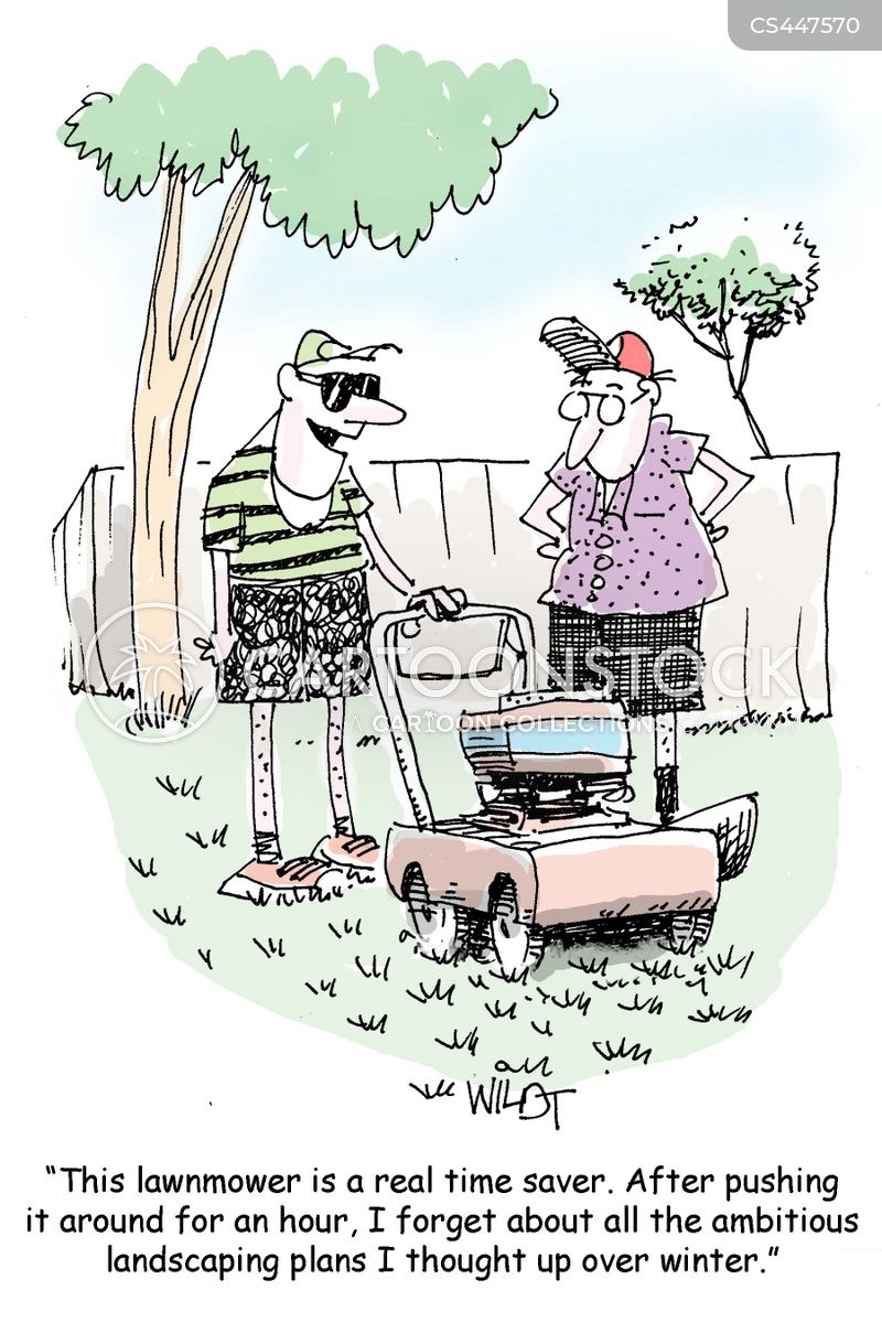 Cutting Grass Cartoons And Comics Funny Pictures From