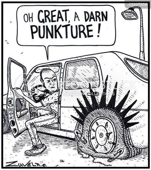 flat tire cartoons  comics funny pictures  cartoonstock
