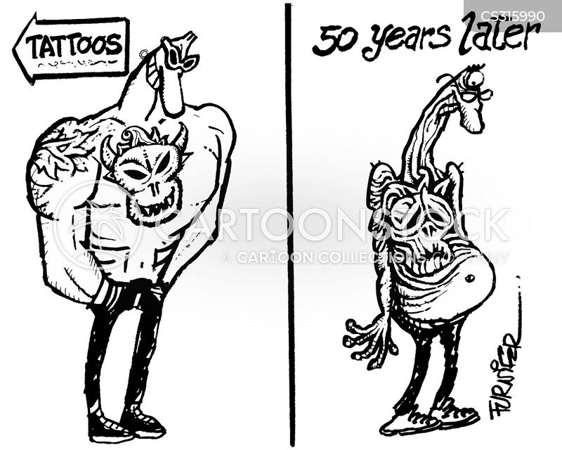 Hell 39 s angels cartoons and comics funny pictures from for Tattoos on old saggy skin
